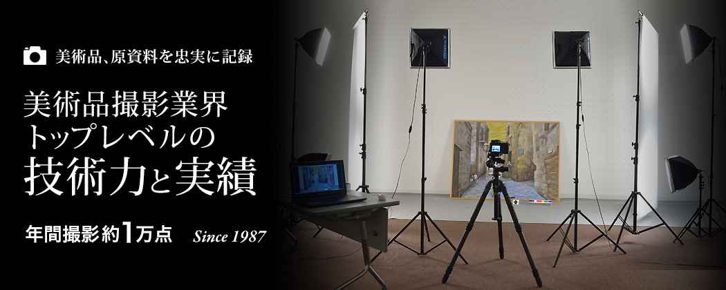 美術品撮影業界トップレベルの技術力と実績